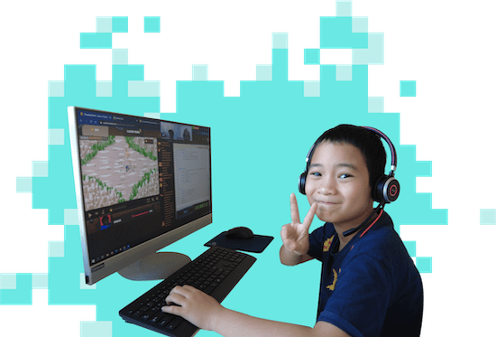Photo of kid playing CodeCombat