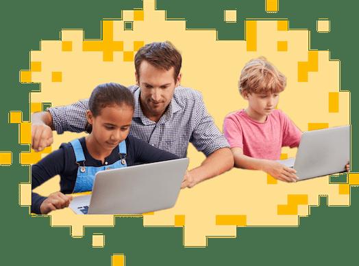 CodeCombat classroom scene