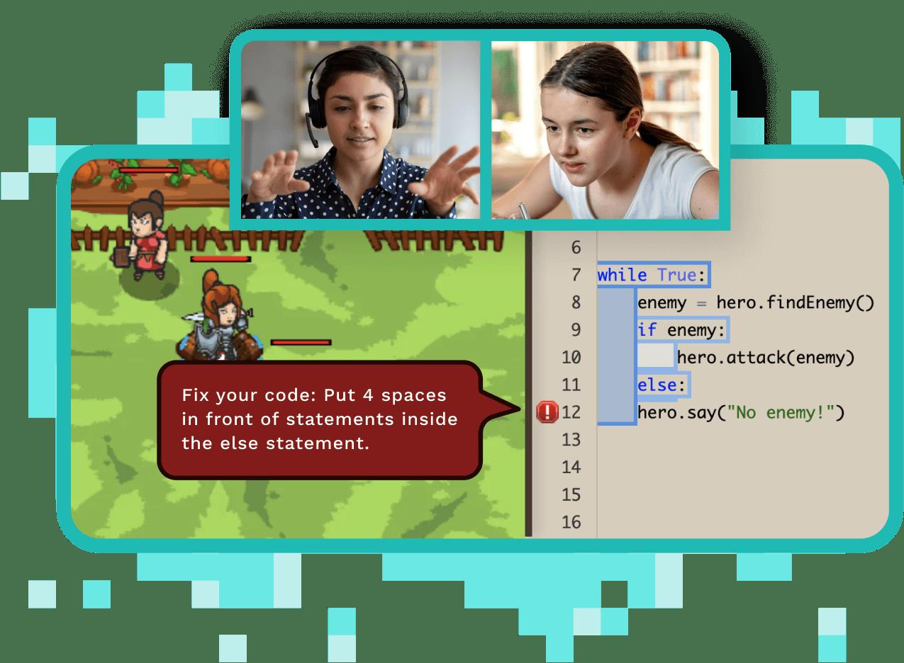Text-based coding screenshot
